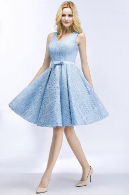 Blue cocktail dresses short | Prom dresses with lace_8