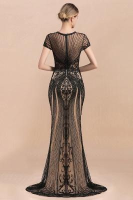 Elegante Abendkleider Lang Schwarz | Abiballkleider mit Glitzer_7