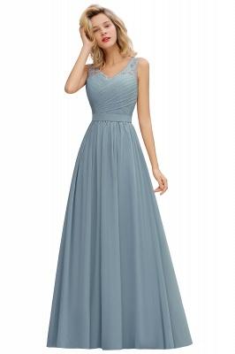 Schlichte Brautjungfernkleider Lang Chiffon | Rosa Kleid für Brautjungfern_6