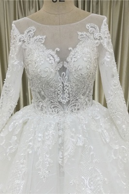 Lace wedding dresses princess | Wedding dresses with sleeves_4
