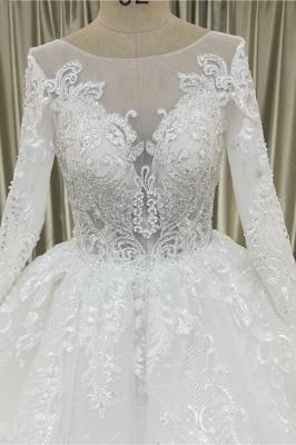 Spitze Brautkleider Prinzessin | Hochzeitskleider mit Ärmel_4