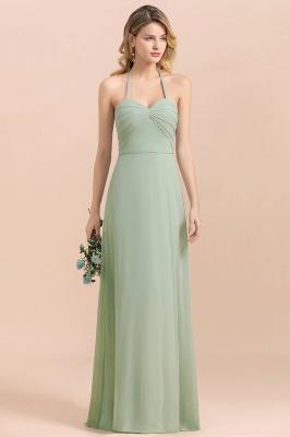 Grüne Brautjungfernkleider Lang Chiffon   Günstige Hochzeitspartykleider_5