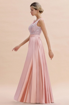 Evening dress long pink | Chiffon dresses prom dresses_9