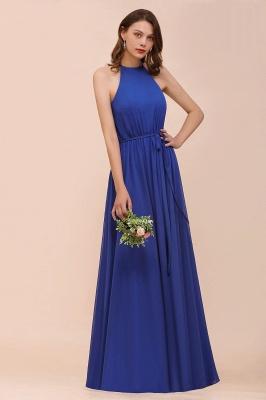 Günstige Brautjungfernkleider König Blau | Chiffon Kleider Hochzeitspartykleider_4
