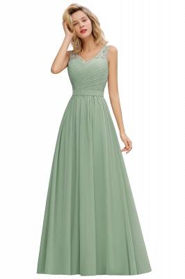 Schlichte Brautjungfernkleider Lang Chiffon | Rosa Kleid für Brautjungfern_7
