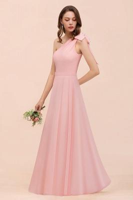Brautjungfernkleider Lang Rosa   Chiffon Kleider Brautjungfern Günstig_7