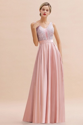 Evening dress long pink | Chiffon dresses prom dresses_17