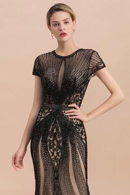 Elegante Abendkleider Lang Schwarz | Abiballkleider mit Glitzer_6