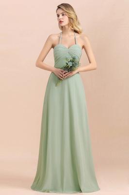 Grüne Brautjungfernkleider Lang Chiffon   Günstige Hochzeitspartykleider_1