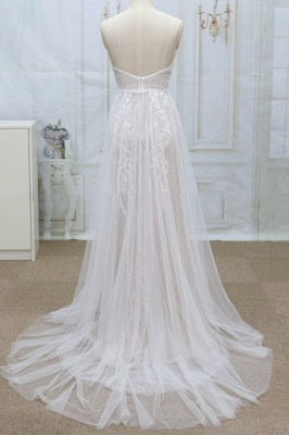 Simple wedding dresses with lace | Wedding dress A line_3