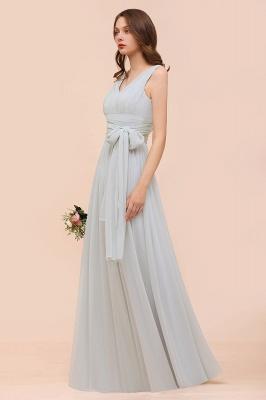 Silber Brautjungfernkleider Lang Günstig   Kleider Für Brautjungfern_5
