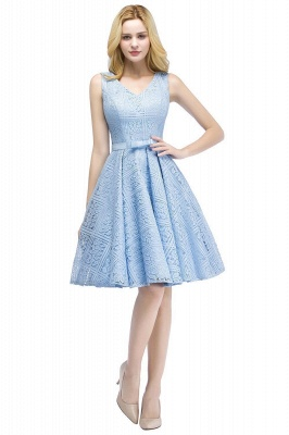 Blue cocktail dresses short | Prom dresses with lace_7