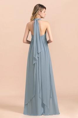 Steel Blue Brautjungfernkleider Lang |  Chiffon Kleider Günstig_3