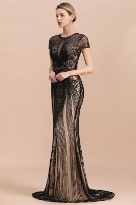 Elegante Abendkleider Lang Schwarz | Abiballkleider mit Glitzer_3