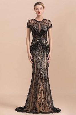 Elegante Abendkleider Lang Schwarz | Abiballkleider mit Glitzer_2
