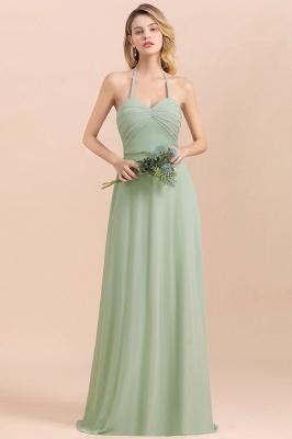Grüne Brautjungfernkleider Lang Chiffon   Günstige Hochzeitspartykleider_7