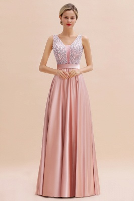 Evening dress long pink | Chiffon dresses prom dresses_12
