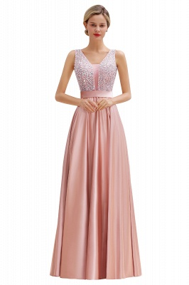 Evening dress long pink | Chiffon dresses prom dresses_1