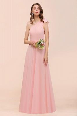 Brautjungfernkleider Lang Rosa   Chiffon Kleider Brautjungfern Günstig_5