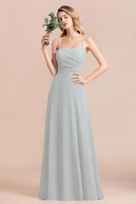 Schlichtes Abendkleid Chiffon | Brautjungfernkleider Lang Günstig_1