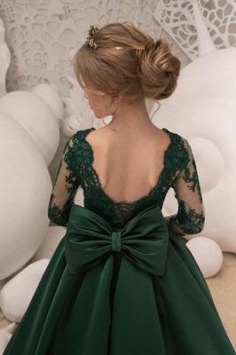 Blumenmädchen Kleid Grün Langarm | Blumenmädchenkleider für Kinder_4