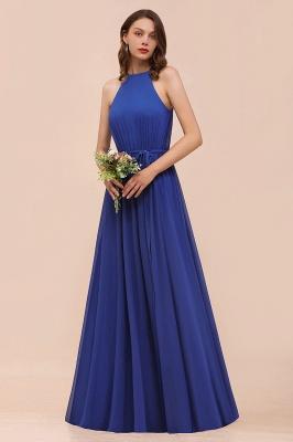 Günstige Brautjungfernkleider König Blau | Chiffon Kleider Hochzeitspartykleider_1