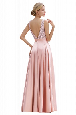 Evening dress long pink | Chiffon dresses prom dresses_16