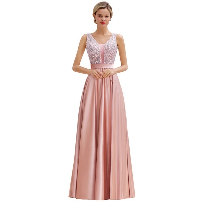 Evening dress long pink | Chiffon dresses prom dresses_10