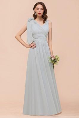 Silber Brautjungfernkleider Lang Günstig   Kleider Für Brautjungfern_8