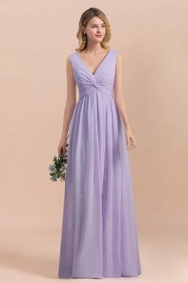 Lilac Brautjungfernkleider Lang Chiffon | Hochzeitspartykleider Günstig_4