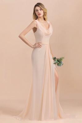 Champagne Brautjungfernkleider Lang | Chiffon Kleider Für Brautjungfern_7