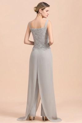 Silber Brautmutterkleider Jumpsuit | Chiffon Brautmutterkleid 3 Teillig_11