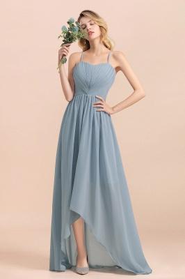 Brautjungfernkleider Lang Blau | Chiffon Kleider Hochzeitsgäste Kleider_1