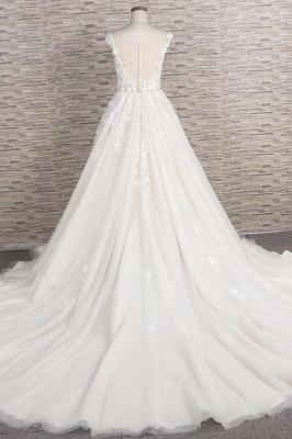 Fashion wedding dress A line | Wedding fashions with lace_3