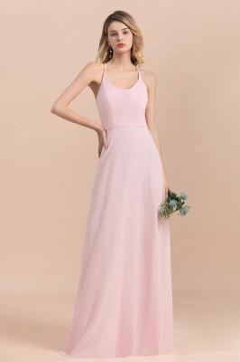 Günstige Brautjungfernkleider Lang Rosa | Schlichtes Abendkleid_7