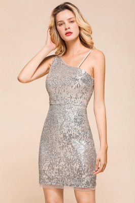 Silver Cocktail Dresses Short | Prom dresses with glitter_4