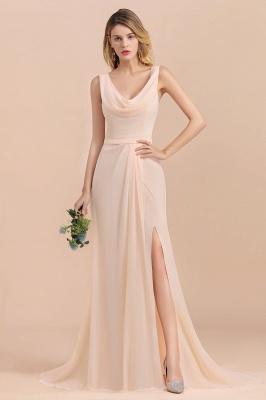 Champagne Brautjungfernkleider Lang | Chiffon Kleider Für Brautjungfern_4