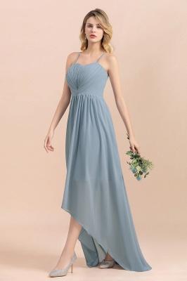 Brautjungfernkleider Lang Blau | Chiffon Kleider Hochzeitsgäste Kleider_8