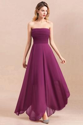 Purpur Brautjungfernkleider Günstig   Chiffon Kleider für Brautjungfern_6