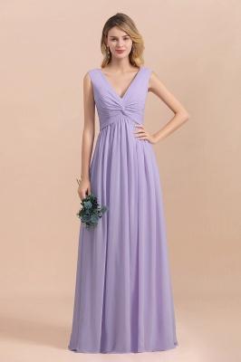 Lilac Brautjungfernkleider Lang Chiffon | Hochzeitspartykleider Günstig_8