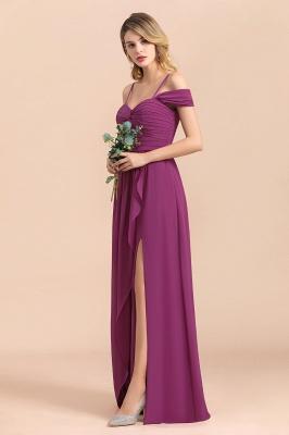 Purpur Brautjungfernkleider Lang Chiffon | Kleider Für Brautjungfern_7