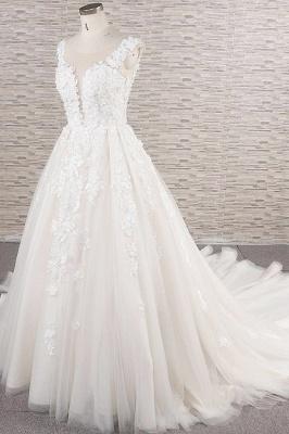 Fashion wedding dress A line | Wedding fashions with lace_4