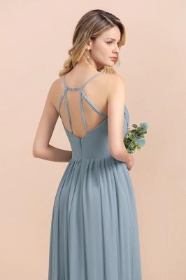 Brautjungfernkleider Lang Blau | Chiffon Kleider Hochzeitsgäste Kleider_5