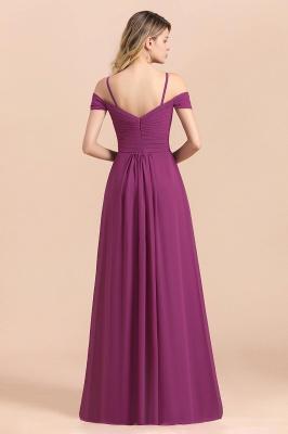 Purpur Brautjungfernkleider Lang Chiffon | Kleider Für Brautjungfern_3