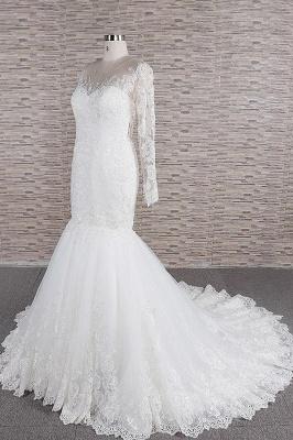 Elegant mermaid wedding dresses | Wedding dress with sleeves_4