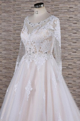 Luxury wedding dresses with lace | Wedding dresses with sleeves_6