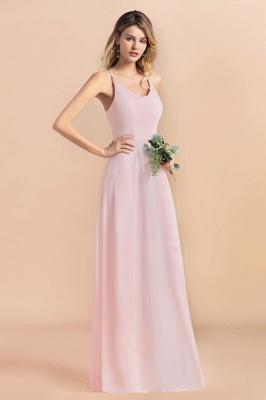 Günstige Brautjungfernkleider Lang Rosa | Schlichtes Abendkleid_6