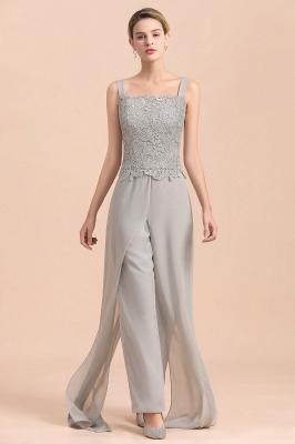 Silber Brautmutterkleider Jumpsuit | Chiffon Brautmutterkleid 3 Teillig_10