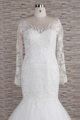 Elegant mermaid wedding dresses | Wedding dress with sleeves_5