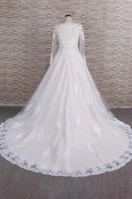 Luxury wedding dresses with lace | Wedding dresses with sleeves_3